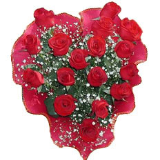 Heart shaped bouquet of roses - deliver in Ukraine | Shipping heart shaped roses - Bouquet of roses Heart - 17 red roses