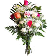 FTD in Ukraine: pink, cream, white roses and carnations delivery in Ukraine | Coctail of Beauty bouquet