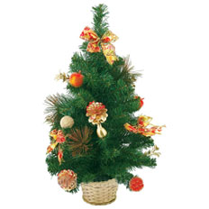 Artificial fir tree - practical element of premiseses decoration.