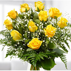 Order basket of yellow roses online | Delivery roses to ,  Ukraine.