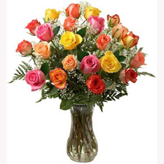 Flower Bouquets, Multicolored Roses