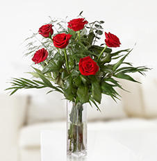 Send basket of burgundy roses to ,  Ukraine.