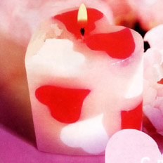 New Year and Christmas Gift, Valentine Candle