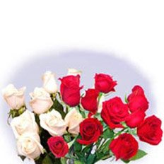 Flower Bouquets, Red and white Roses bouquet