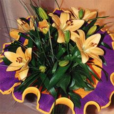 Bouquet of Asian lilies with delivery in ,  Ukraine | Shipping lilies in ,  Ukraine - Online Flower Shop