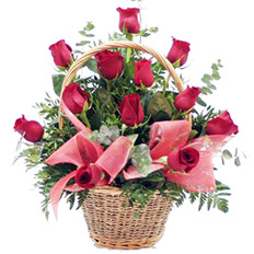 Send roses in a basket > Red roses basket delivery | Florists ,  Ukraine - order roses online