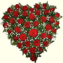 Букет из роз в форме сердца | Доставка в Киеве.