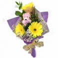 Yellow Gerberas and Teddy Bear